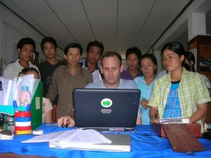 Michael Victor, leading communication work in the Challenge Program for Water and Food (Photo credit: CPWF)